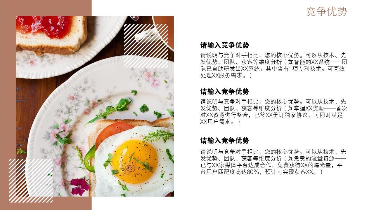 餐飲行業輕奢網紅簡餐健康餐創業項目商業計劃書模板-競爭優勢