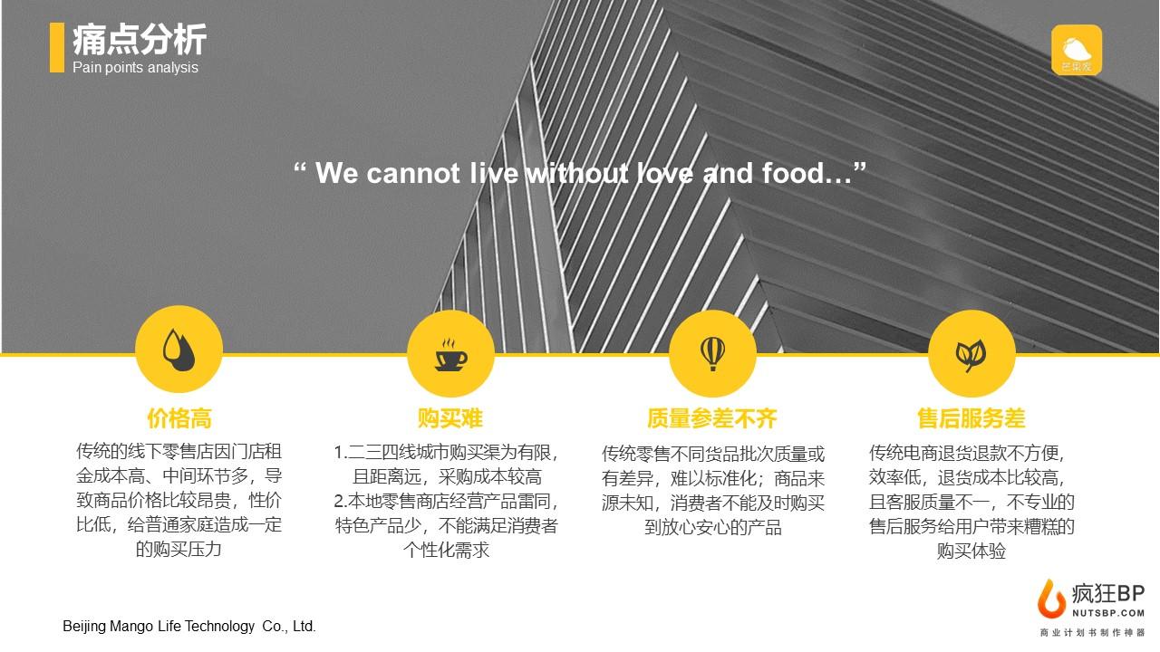 [芒果家]社區電商團購生活服務商業計劃書范文模板-undefined
