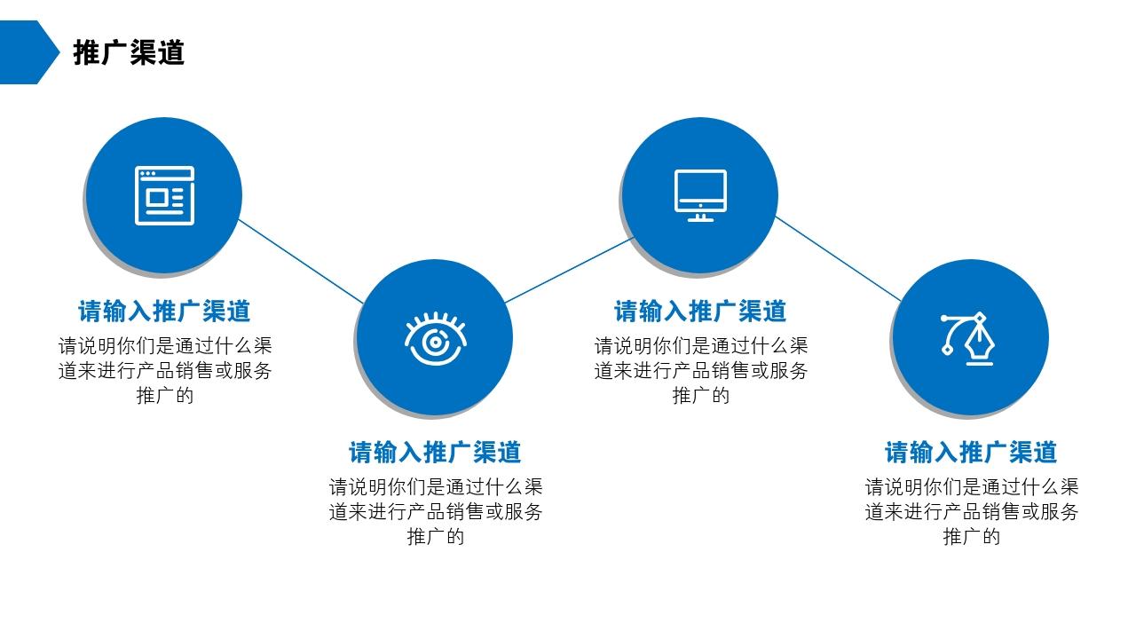 保險公司理財咨詢房地產公司完整商業計劃書PPT模版-推廣渠道