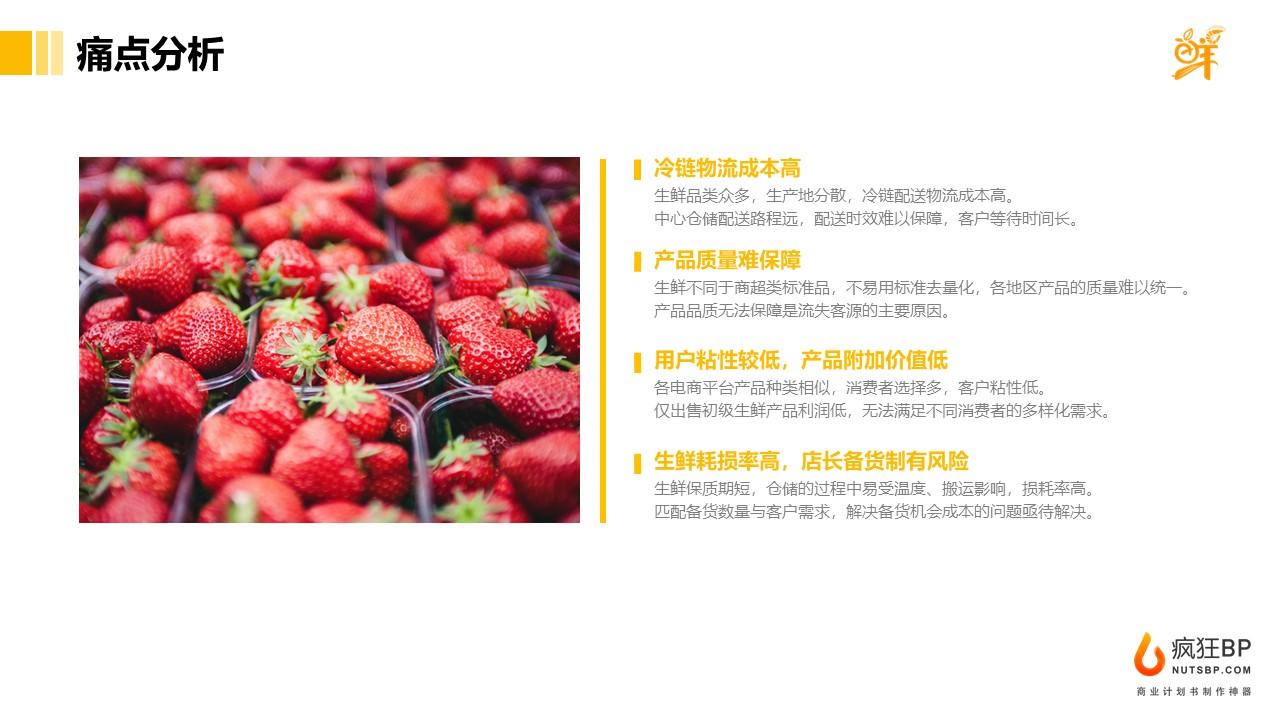 [優鮮選]前置倉果蔬生鮮電商創業計劃書范文模板-undefined